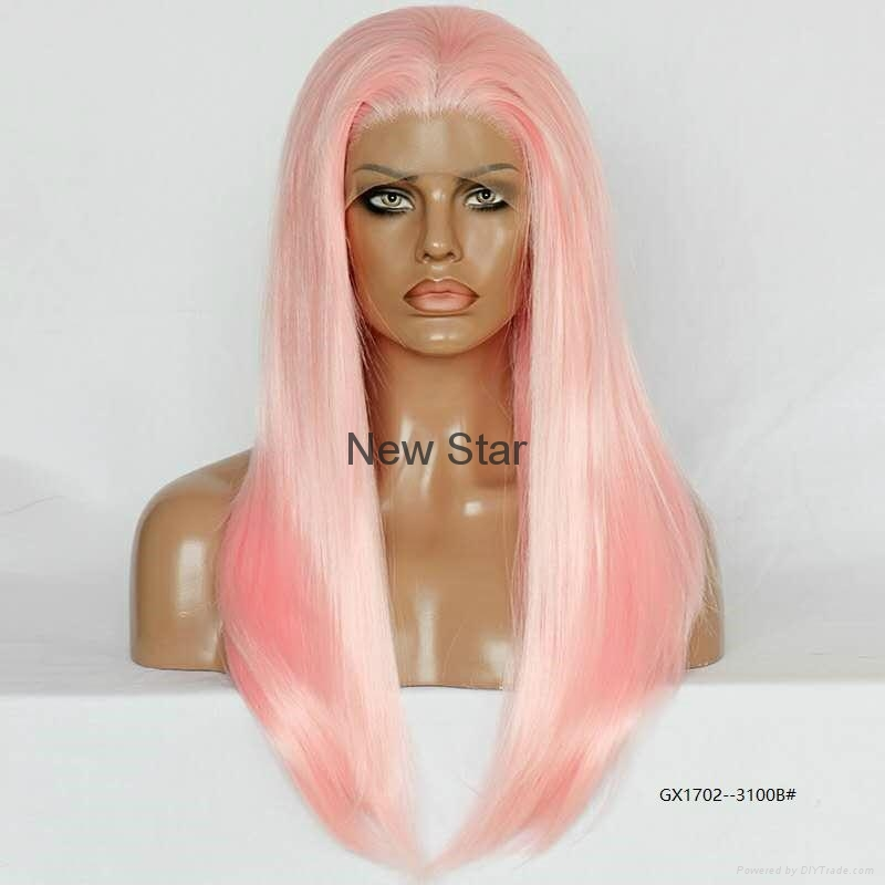 Synthetic frontal lace wigs 3