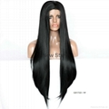 Synthetic frontal lace wigs
