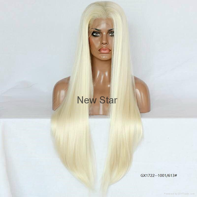 Synthetic frontal lace wigs 6