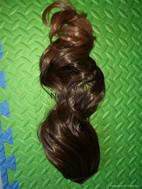 New Style clip on synthetic hair extension 6