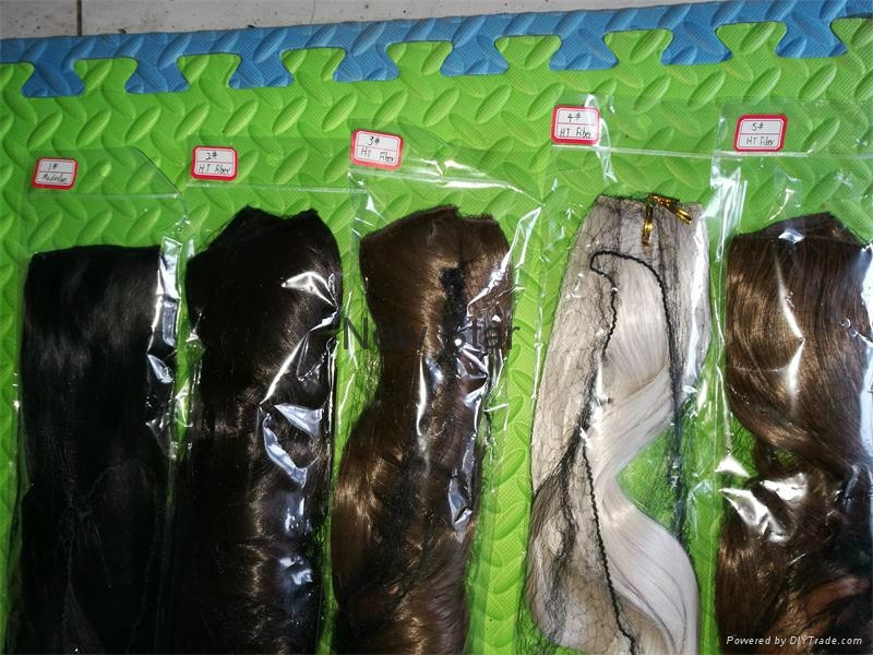 New Style clip on synthetic hair extension 9