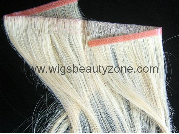 PU hair weft 3