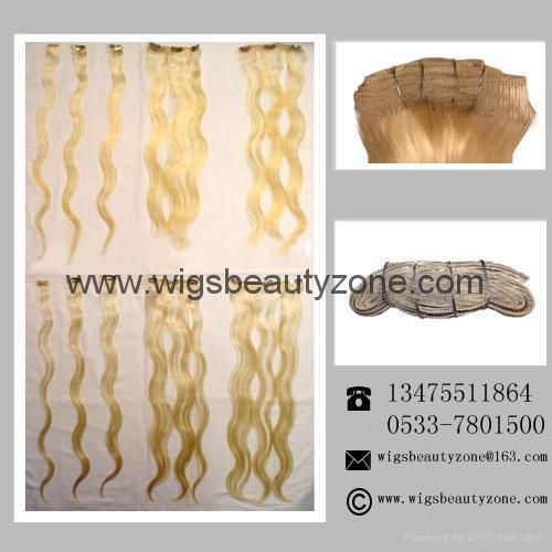 Clip on hair weaving 2