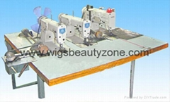 Hair wefts machine