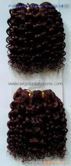 Human hair weaving Jerry Curl 1