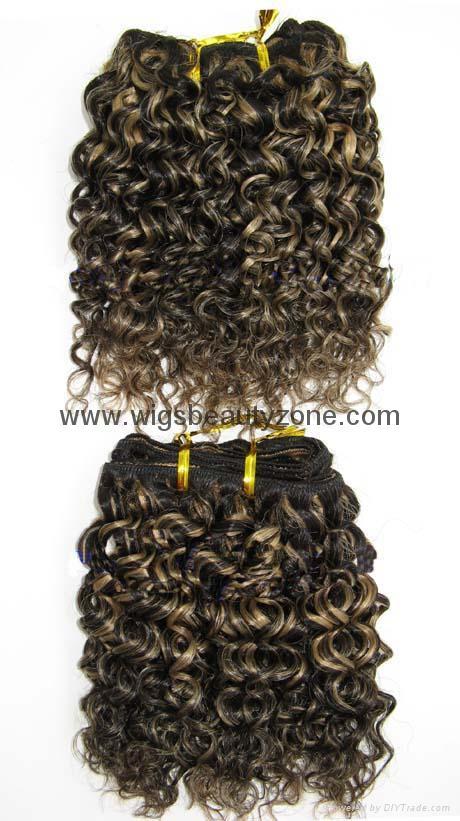 Human hair weaving Jerry Curl 5