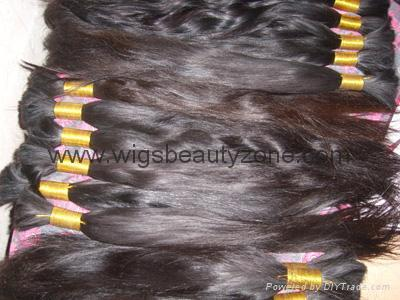 New Single Drawn Remy hair material 2