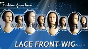 Synthetic lace front wigs 4