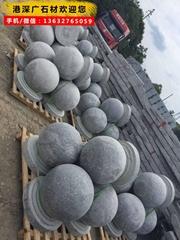 石材圆球 停车场专用花岗岩圆球 深圳异型石材厂家直销