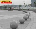 耐磨耐撞石球挡车美观市政规划道路墩子
