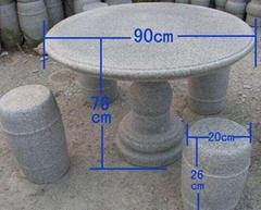 室外石桌石凳 庭院石桌石凳 石桌子 加厚耐用型