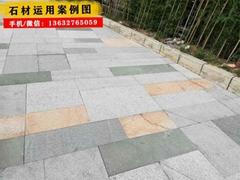 石材厂供多种规格铺路石 青石地铺石 户外地铺石