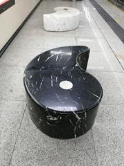 深圳园林石材厂生产户外石桌椅 围树座椅