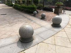 石球厂家提供各种型号止车石球 挡车石球 路障石球 图片