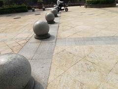 石球石材厂种规格花岗石挡车石球 大理石挡车球  图片/价格