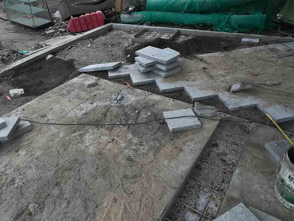 深圳石材廠生產各種規格臺階石 蘑菇板 花壇石 圖片/價格 3