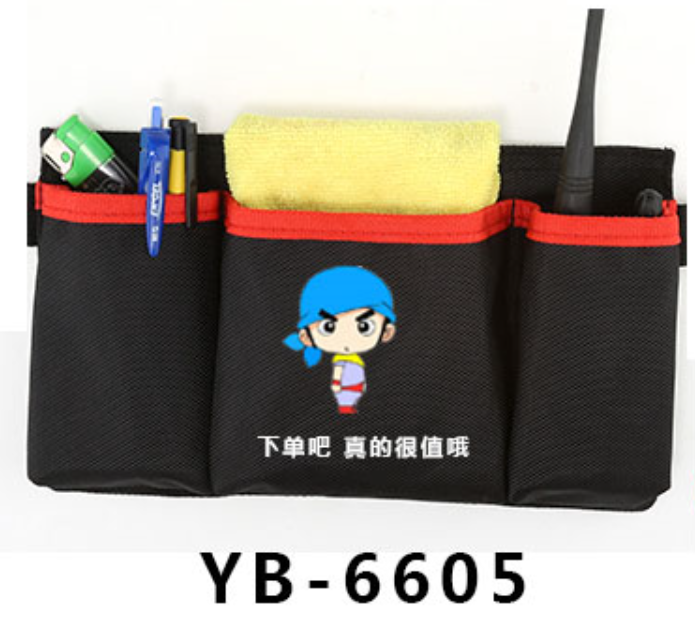 KTV staff waist bag hotel waiter waist bag multi-functional waist bag custom logo