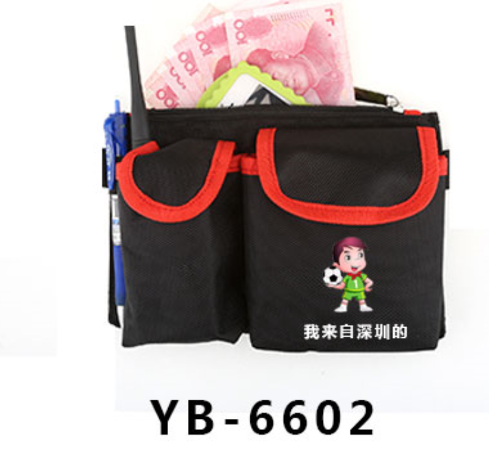 KTV bar property staff waist bag McDonald's Restaurant Waiter multi function work waist bag customization