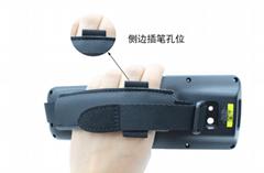 手持終端機背面固定 插筆孔位 鬆緊手帶 背帶 手持機手腕帶