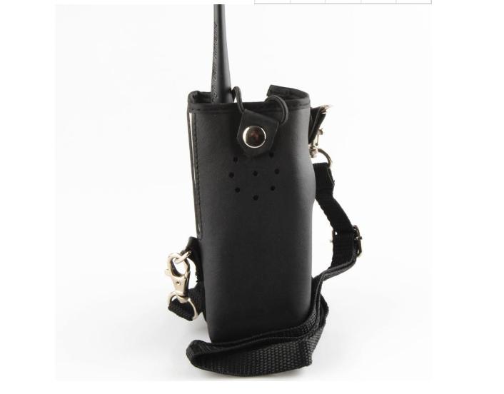 ¥14.00 对讲机皮套定做 手持对讲机布套 治安铁路专用对讲机保护套