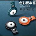 ¥3.60 成交1790件 工厂批发airtag保护套pu皮革钥匙扣 苹果防丢定位器追踪器保护壳 广州