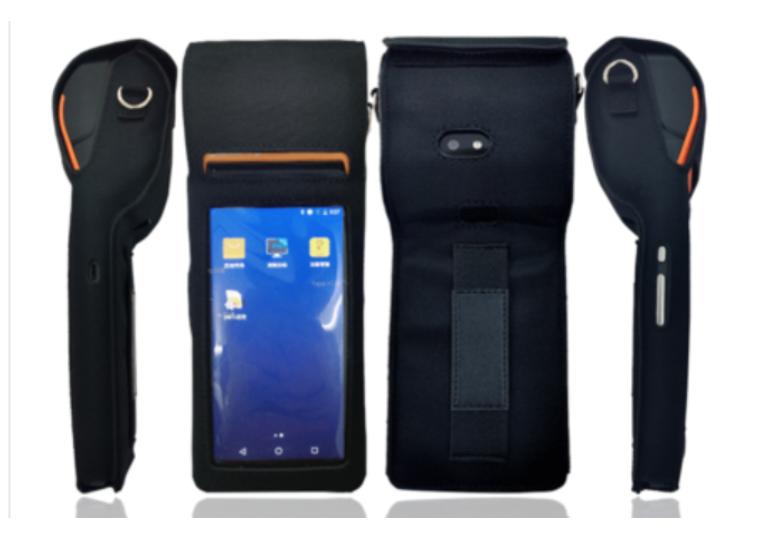¥19.00 成交100PCS pos机皮套 手持终端机保护套 加工定制pu防水肩带数据采集器皮套 东莞市