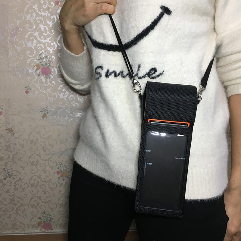 ¥15.00 成交2109個 手持POS機保護套 源頭工廠皮具生產肩帶背夾挂腰手持終端機PDA套 東莞市