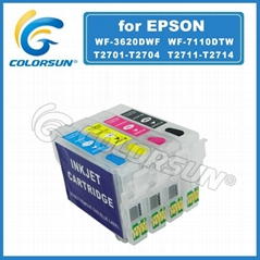 T2711 Refill Ink cartridge for WF7110 with auto reset chip WF-3640 WF-3620 WF-71