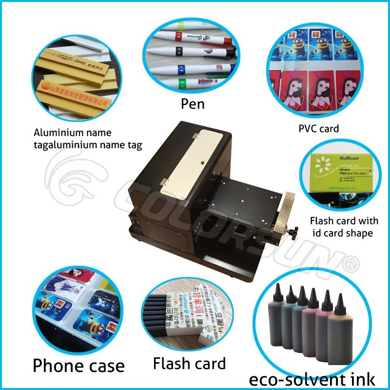 A4 size uncoating Flatbed Printer with laptop 6
