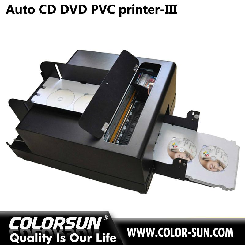 2016 new whole sales automatic digital inkjet PVC card and cd disk printer  1