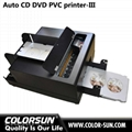 2016 new whole sales automatic digital inkjet PVC card and cd disk printer