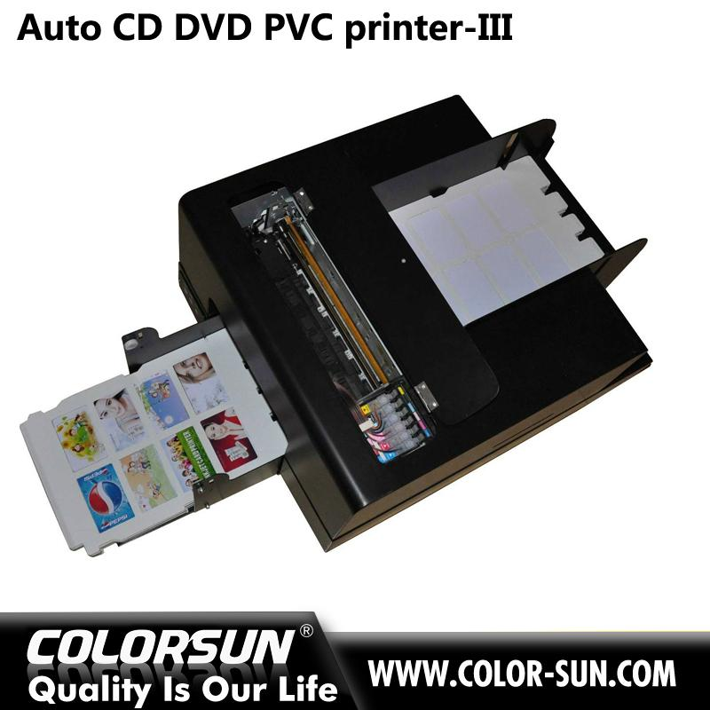 2016 new whole sales automatic digital inkjet PVC card and cd disk printer  5