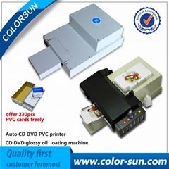 自動cd / dvd打印機+光滑的塗油機