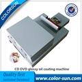 CD DVD glossy oil coating machine