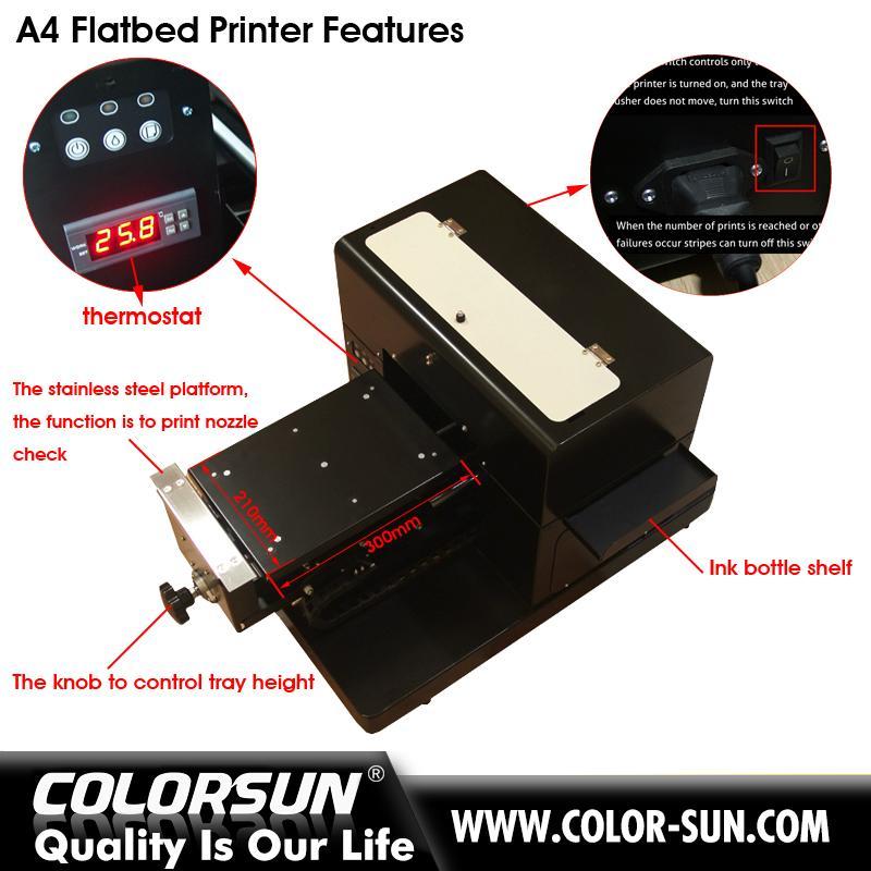 带笔记本电脑的A4尺寸无涂层平板打印机 6