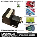 A4 size uncoating Flatbed Printer with laptop