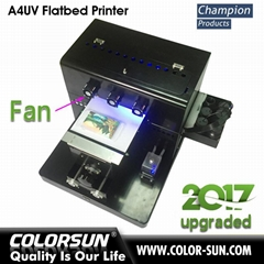 2017 New upgraded A4 UV  Flatbed Printer