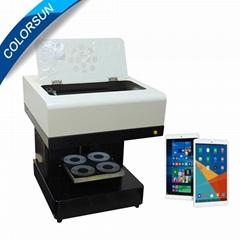4杯拿铁艺术CSC1-4咖啡打印机自动用于食品茶咖啡