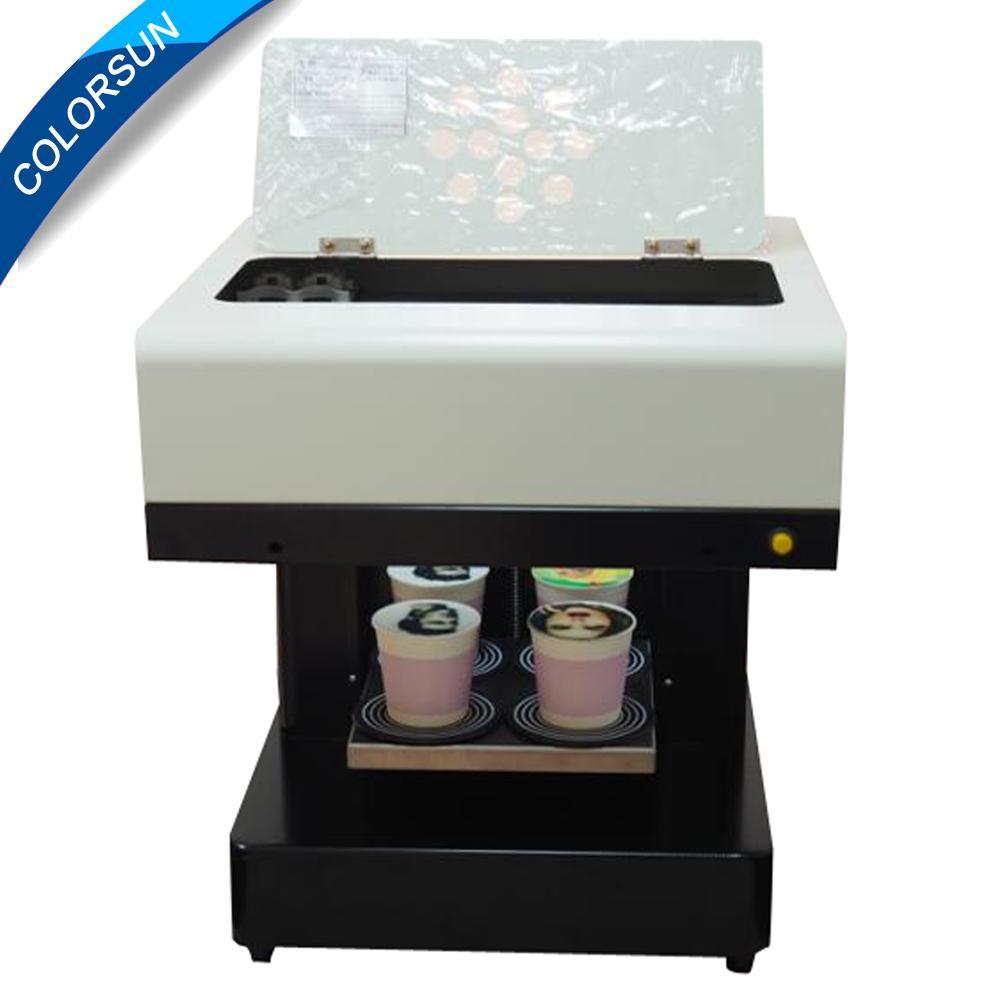 4杯拿铁艺术CSC1-4咖啡打印机自动用于食品茶咖啡 2
