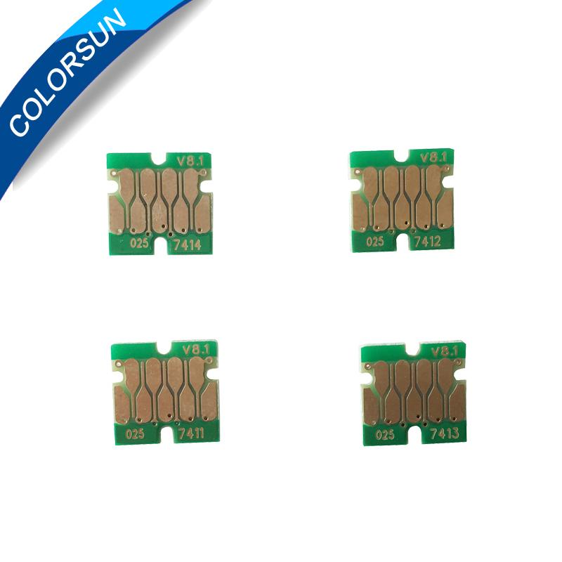 One time chip for cartridge 4 color F6000/F7000/F6070/F7070/F7100 1