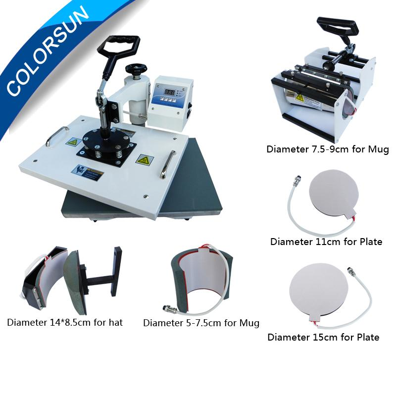 6 in 1 heat press machine