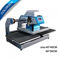 Pneumatic two worktable digital heat press machine for t-shirt