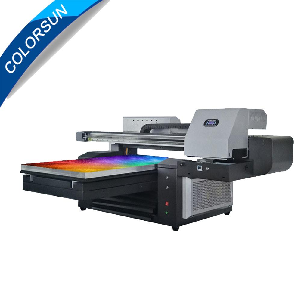 Automatic A2 TX6090 UV Printer large format machine with two printhead 12colors 1