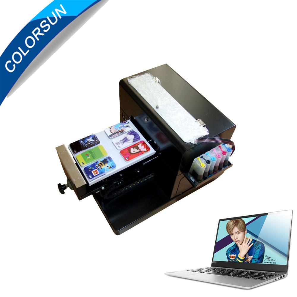 A4 size uncoating Flatbed Printer with laptop 1