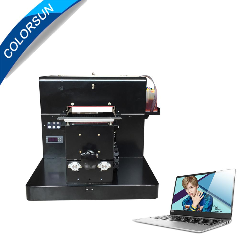 A4 size uncoating Flatbed Printer with laptop 2