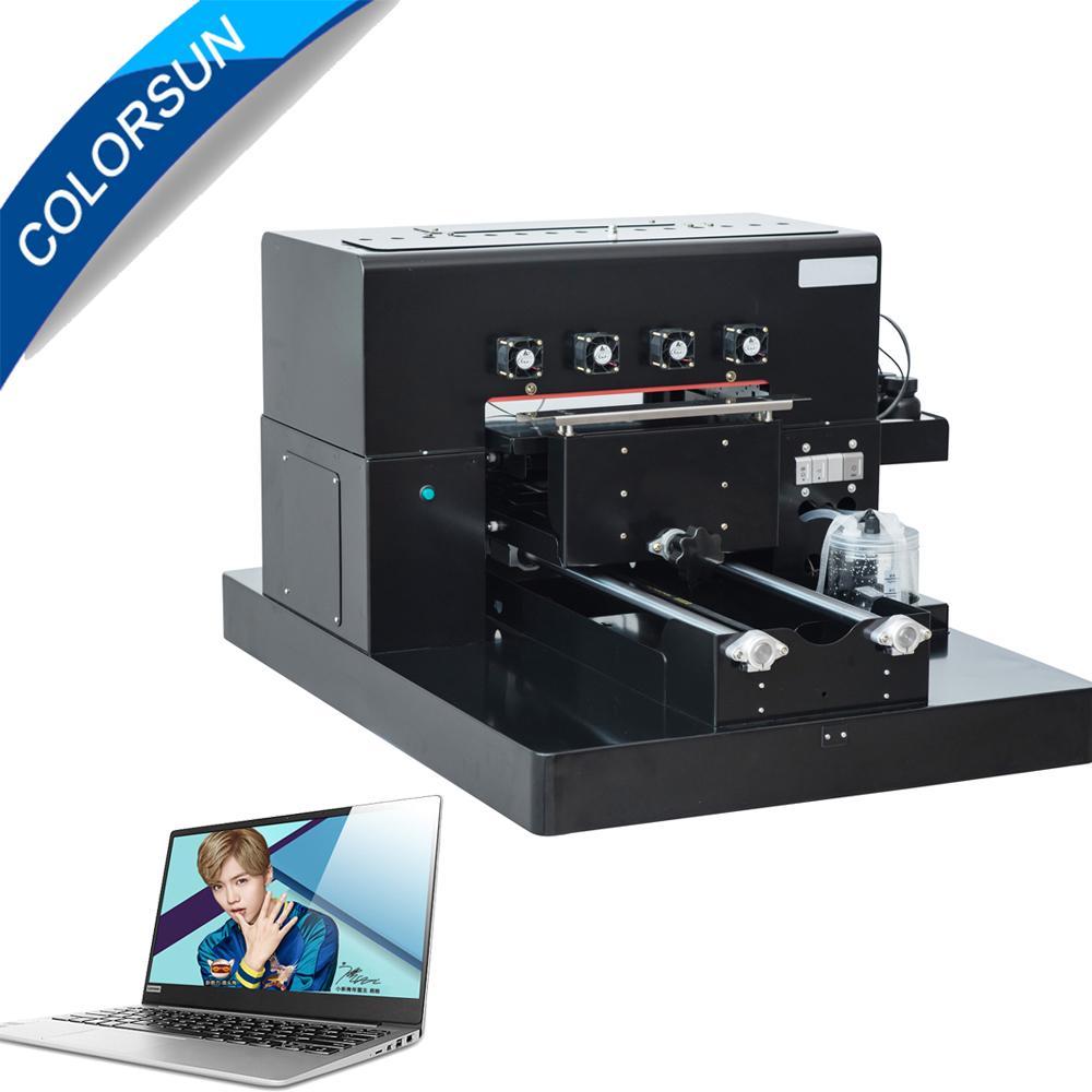带笔记本电脑的A3 UV平板打印机 1