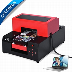 2018 New Digital Automatic A4 UV Printer 6Colors with computer