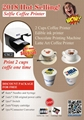 2018 Edible coffee printing 2cups printer