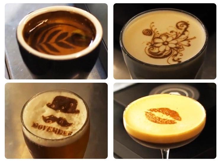 进口可食用墨水,用于打印咖啡,饮料,卡布奇诺咖啡,奶茶,啤酒等 5