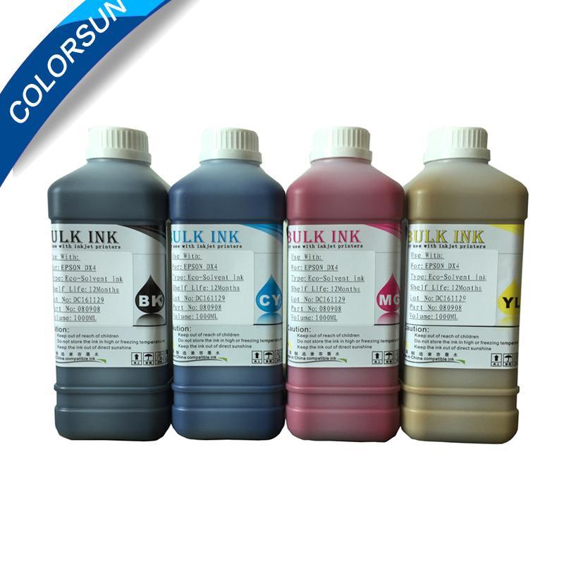 适用于中国DX5 DX6 DX7打印机的ECO-Solvent墨水和国外品牌MIMAKI ROLAND MUTOH等 1